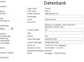 Chat Datenbank